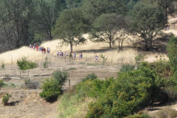 First hill climb.
