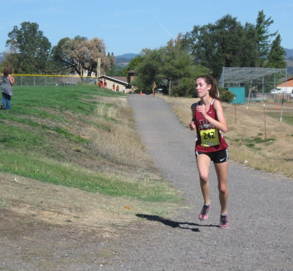 Healdsburg's Ana Drake-Tripp firmly in 2nd place at this point.