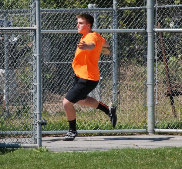 Reed Salmon had a prep best in the discus at 156-1.