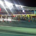 Rylee Bowen, running in second just behind Kenya's Sandrafelis Chebet Tuei at World Youth Championships. Photo by Danika Bowen